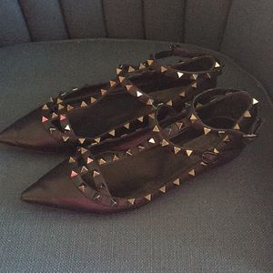 Shoes - SOLD Valentino Rockstud Caged Flats